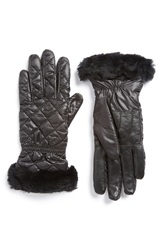 Ugg Quilted Water Resistant Tech Gloves Black Multi