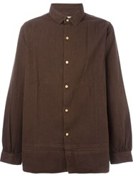 Visvim Long Rider Shirt L S Brown