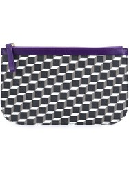 Pierre Hardy Mini Cube Design Clutch Black