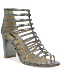 Tahari Arrive Gladiator Sandals Women's Shoes Pewter