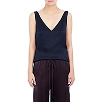 Maiyet Women's Plisse Cross Back Tank Navy