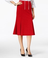 Ny Collection Ponte A Line Skirt Scarlet Sage