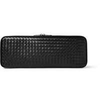 Bottega Veneta Intrecciato Leather Tie Case Black