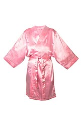 Women's Cathy's Concepts Satin Robe Pink L