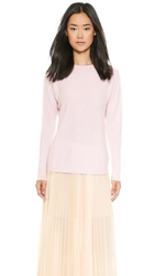 Tess Giberson Slouchy Cashmere Sweater Marled Blush