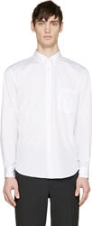Comme Des Garcons White Oversized Button Up Shirt