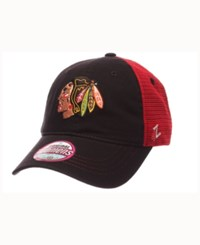 Zephyr Women's Chicago Blackhawks Glimmer Snapback Cap Black Red