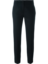 Piazza Sempione Tailored Cropped Trousers Black