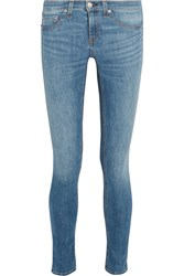 Rag And Bone Rag And Bone Low Rise Skinny Jeans Mid Denim
