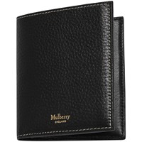 Mulberry Natural Grain Leather Trifold Wallet Black