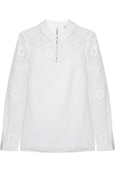 Burberry Crocheted Lace Top White