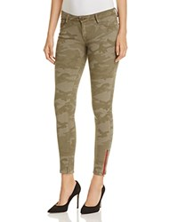 Etienne Marcel Ankle Zip Skinny Jeans In Camo Green Compare At 195