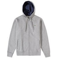 Lacoste Full Zip Hoody Grey
