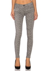 Black Orchid Jude Mid Rise Skinny Grey Leopard