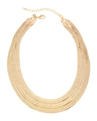 Lydell Nyc Golden Triple Strand Snake Bib Necklace Women's