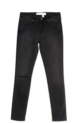 Victoria Beckham Destroyed Knee Jeans Black