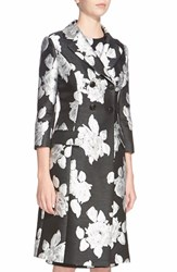 Women's St. John Collection Floral Duchesse Satin Coat