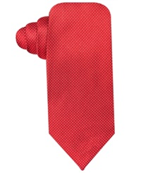 Ryan Seacrest Distinction Stardom Pindot Slim Tie Red