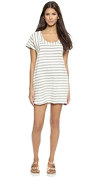 Solid And Striped The Tee Dress Heather Grey White
