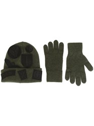 Dsquared2 Beanie And Gloves Set Green