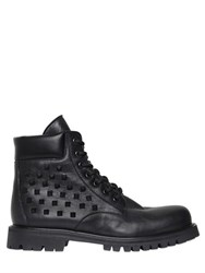 Valentino Rockstud Leather Combat Boots