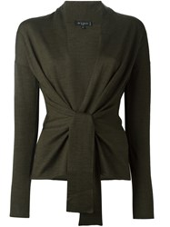 Etro Knot V Neck Cardigan Green