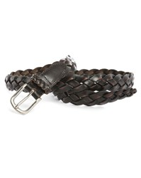 Scotch And Soda Brown Woven Leather Patina Belt