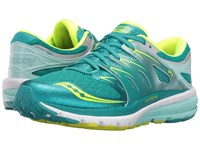Saucony Zealot Iso 2 Teal Citron Women's Running Shoes Blue
