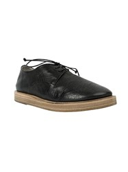 Marsa Ll Distressed Lace Up Shoes Black