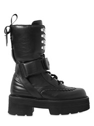 Msgm 60Mm Leather Combat Boots