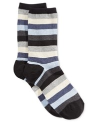 Hot Sox Women's Stripe Trouser Socks Black