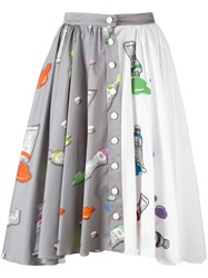 Olympia Le Tan 'Frida Oldenburg' Skirt Grey