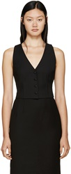 Dolce And Gabbana Black Cropped Tailored Vest