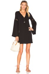 Oh My Love Tassel Tie Front Dress Black