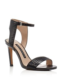 French Connection Linna High Heel Ankle Strap Sandals Black
