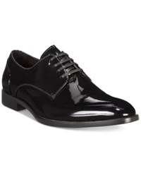 Kenneth Cole Keep T Rack Patent Leather Oxfords Men's Shoes Black