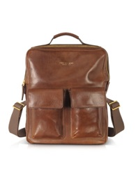 The Bridge Sfoderata Marrone Leather Backpack Brown