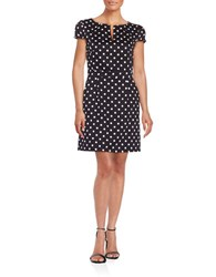 French Connection Polka Dot Sheath Dress Black White