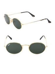 Ray Ban Oval Sunglasses Gold Green
