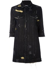 Filles A Papa 'Eagle' Denim Dress Black