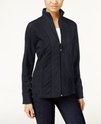 Styleandco. Style Co. Petite Fleece Quilted Jacket Only At Macy's Dark Grape