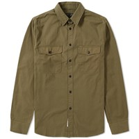 Rag And Bone Jack Twill Overshirt Green