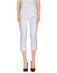 Etiqueta Negra Trousers 3 4 Length Trousers Women White