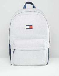 Tommy Hilfiger Flag Backpack In Grey Grey