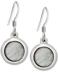 Giani Bernini Round Mother Of Pearl Drop Earrings In Sterling Silver Only At Macy's