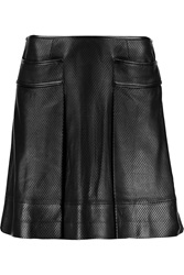 Tory Burch Fae Perforated Leather Mini Skirt
