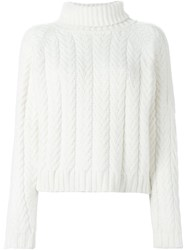 Cacharel Cable Knit Sweater Nude And Neutrals