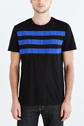 Urban Outfitters Charles And 1 2 Racing Stripe Crew Neck Tee Black