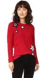 Rebecca Minkoff Prim Sweater With Sequin Stars Red