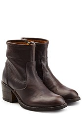 Fiorentini Baker And Leather Ankle Boots With Zip Brown